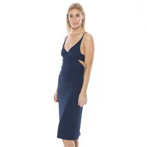 DION LEE Navy Fitted Bra Cocktail Dress